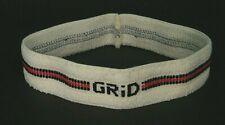 Unused ViNtage 80s Red Black StriPe *GriD* WhiTe Terrycloth Sweatband Headband