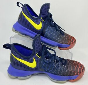 NIKE Zoom KD 9 GS 'Roar From the Floor' 855908-484 Youth Basketball Shoes (5.5Y)