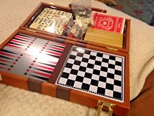Vintage Faux Leather Travel Case with multi games NEVER USED