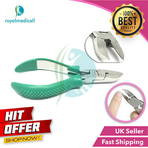 Toe Nail Clipper Cutter Nippers - Chiropody Heavy Duty Thick Nails Green Grip