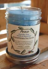PEACE SOY CANDLE CLEAN BURN Aromatherapy lavender, lime, peppermint & vanilla