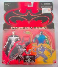 Batman Y Robin cerebro vs músculos Batman Y Bane dos Pack 2 figuras 1997 Kenner MOC