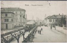 MEDA MONZA BRIANZA MILANO STAZIONE CON TRENO ANIMATA 1917 SUPER !