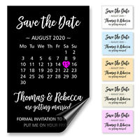 Save the Date Magnet Calendar Cards Personalised with Envelopes – FM0103