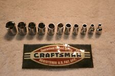 "NEW CHROME 11 pc CRAFTSMAN 1/4"" DRIVE 6 pt METRIC / MM SOCKET SET HAND TOOLS lot"