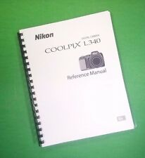 Nikon L340 Coolpix Camera 135 Page Laser 8.5X11