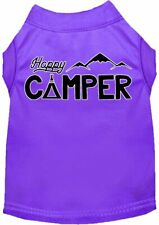 New listing Happy Camper Screen Print Dog Shirt -Assorted Colors