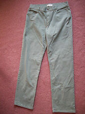 Christopher & Banks Women's Denim Colored Jeans size 8 olive green inseam 30