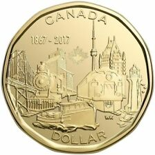2017 CANADIAN 150 ANNIVERSARY CONNECTING A NATION DOLLAR $1 LOONIE UNC