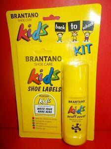 KIDS SHOE LABELS & BLACK SCUFF COVER SET BY BRANTANO