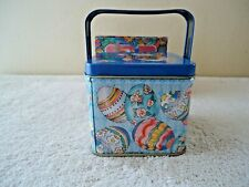 """Vintage """" Nos """" Giftco # G 2554 """" Happy Easter Tin """" Beautiful Collectible Item"""