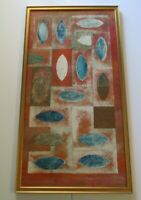 VINTAGE ABSTRACT PAINTING LARGE MODERNISM MODERNIST EXPRESSIONISM EXPRESSIONIST