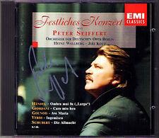 Peter Seiffert SIGNED elegante concerto commercio Flotow Wagner Beethoven Bizet CD