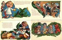 Lot of 4 ~Funny COMIC ~Antique Christmas 1908~ Postcards-Scrooge~Santa~~-s934