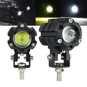 Led Mini Driving Light Hi-Low Beam w/Dual Color for Motocycle ATV UTV SUV 4x4