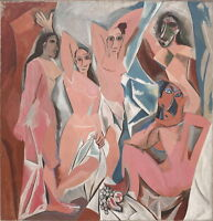 Pablo Picasso Les Demoiselles d'Avignon Giclee Canvas Print Paintings Poster Rep