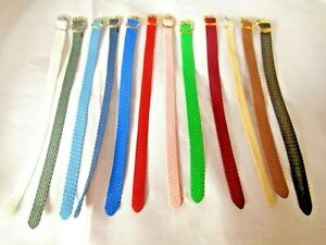 Perlon Woven Nylon One Piece Watch Strap Various Colours and Sizes 8 10 12 14mm