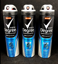 Degree Men EXTREME MotionSense Antiperspirant Dry Spray (LOT OF 3)