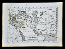 c 1835 Levasseur Map - Empire of Alexander the Great - Middle East Greece Egypt
