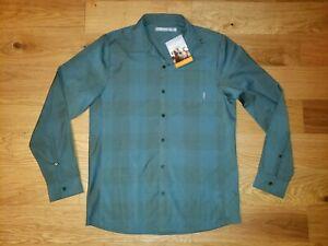 NWT ICEBREAKER Departure II Merino Wool Plaid Shirt New Size MEDIUM Green