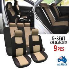 Universal Car Seat Covers Front&Rear Seat Back Head Rest Protector 9Pcs/Set AU