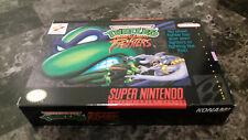 Super Nintendo SNES TMNT Tournament Fighters Complete In Box CIB
