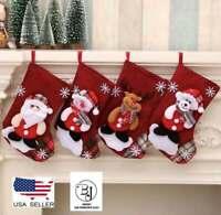 Christmas Stocking Santa Claus Candy Gift Bag Sock Xmas Tree Hanging Ornaments