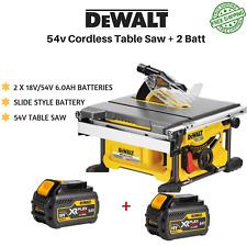 DeWalt 54V XR FlexVolt Li-Ion Brushless Cordless 210mm Table Saw + 2 Battery