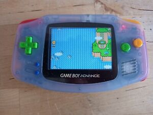 ** Game Boy Advance Console - With Bright IPS LCD Screen GBA **