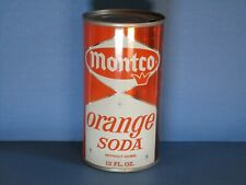 Monco Orange Flat Top Soda Can