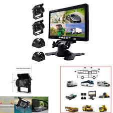 """7""""Monitor Car Truck Bus DVR Video Recorder+Quad Side Rear View Camera System Kit"""