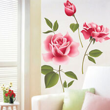 Removable Vinyl Decal Art Rose Flower DIY Home Decoration Wall Sticker Mural