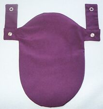 Purple Ostomy Colostomy Pouch Bag Cover 2Pc Convatec & Hollister Snaps on Belt