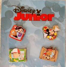 New DisneyLand Resort & WDW JUNIOR 4 Pin Lanyard Booster Set