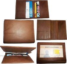 5 Leather business card credit card case ID card ATM card case card holder BNWT
