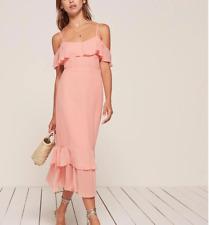 Sexy Reformation Odessa Dress Blush Pink Off Shoulder Brand New Size 6