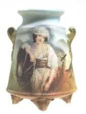 Royal Bayreuth Tapestry - Lady with Horse - Knob Handled Toothpick Holder