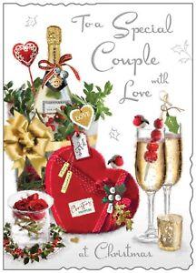 Jonny Javelin Special Couple Love At Christmas Card Champagne Chocolates/XV007