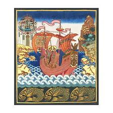 Saints Boris and Gleb on the Ship Deco FRIDGE MAGNET, Art Nouveau Mini Gift