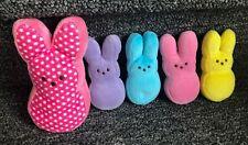 Lot of Plush Peeps Bunnies, Colorful, EUC, Cute