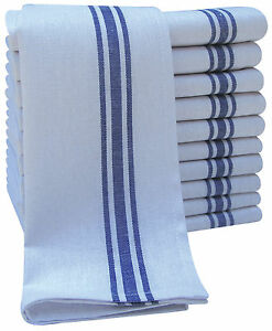 Pack Of 10 Cotton Rich Catering Tea Towel Kitchen Restaurant Glass Cloths