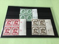 Burma Japanese Occupation 1944 Mint Never Hinged Stamps Blocks Ref 51757