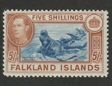 FALKLAND ISLANDS 1938 5/- SG 161   MOUNTED MINT CAT£150 MIN