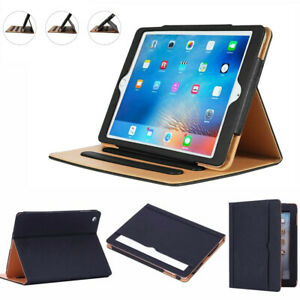 Genuine Leather TAN Magnetic Case Cover For Apple iPad 2/3/4 Air 10.2 10.5 10.9