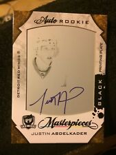 08/09 The Cup Justin Abdelkader Auto Rookie black Printing plate 1/1