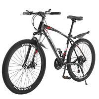 26in Full Suspension Mountain Bike Road 21 Speed Men's Bikes Bicycle MTB US