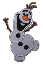 """Walt Disney Frozen Movie Olaf Character 3 3/4"""" Tall Embroidered Patch"""