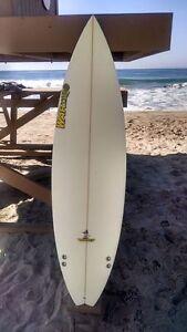 "Warner Surfboards WB004-US006: 6'1"" Short Board Hand Shaped In Australia"