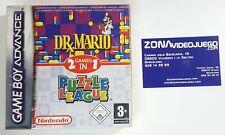 Dr x Mario y Puzzle League, Game Boy Advance, Pal-eur. NUEVO A ESTRENAR.