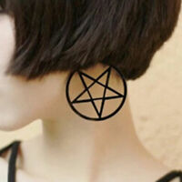 1 Pair x Fashion Earring Große Pentagramm Ohrringe Pentagramm Gothic Großer Hoop